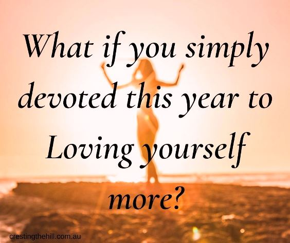 What if you simply devoted this year to loving yourself more? #positivelifequote