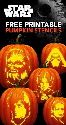 Free printable Star Wars Pumpkin Carving templates