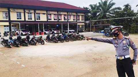 Sepeda motor yang diamankan polisi