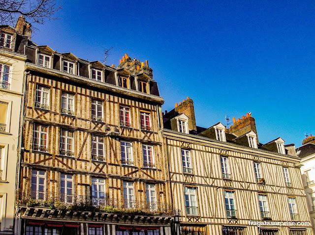 Fachada em enxaimel, típica de Rouen, França