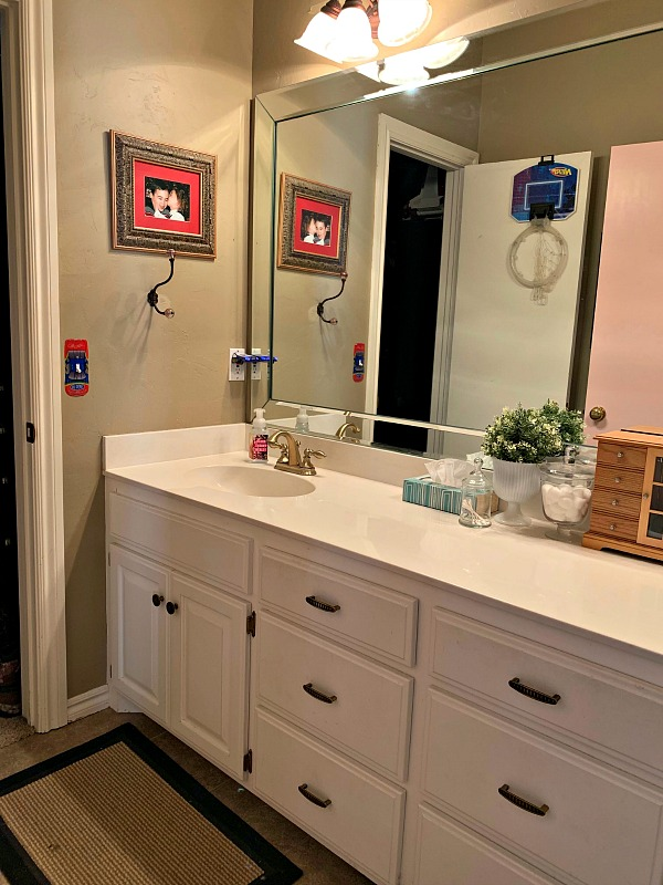 Kids Jack And Jill Bathroom Makeover Before Photos Design Plan Dimples Tangles