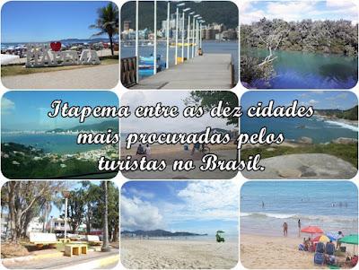 Itapema entre as dez cidades mais procuradas pelos turistas no Brasil