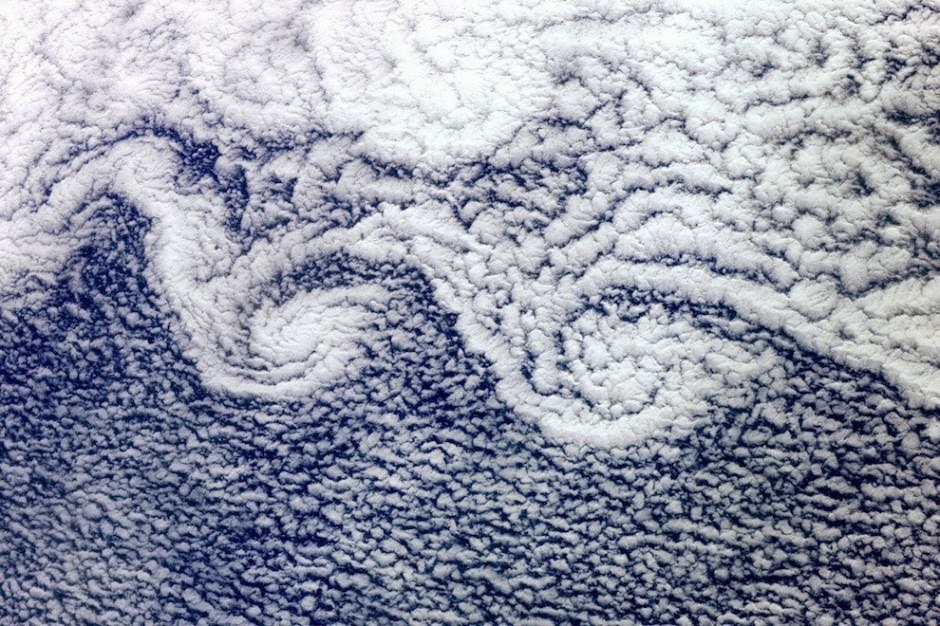 Altocumulus from the ISS