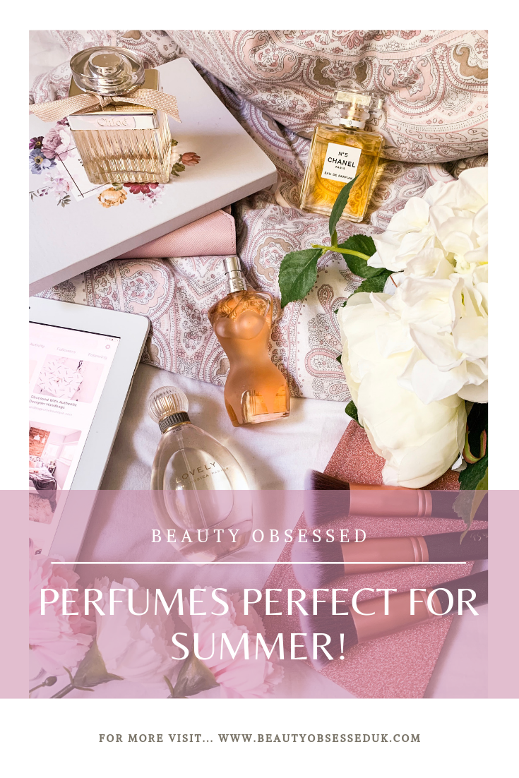 Perfumes Perfect For Summer Pinterest Graphic