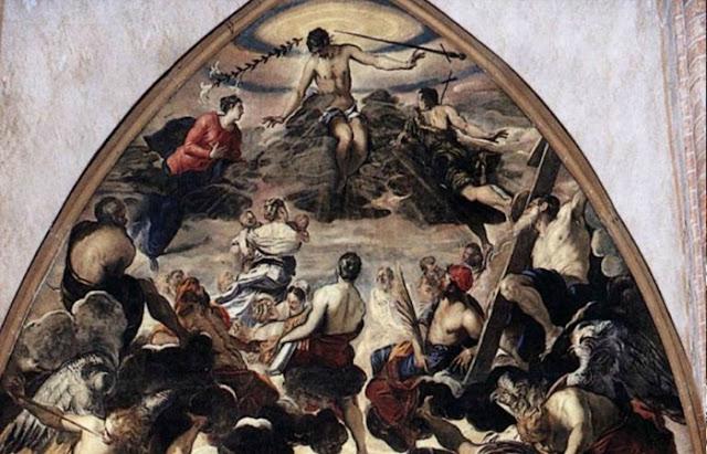 O Juízo Final (metade superior da pintura)