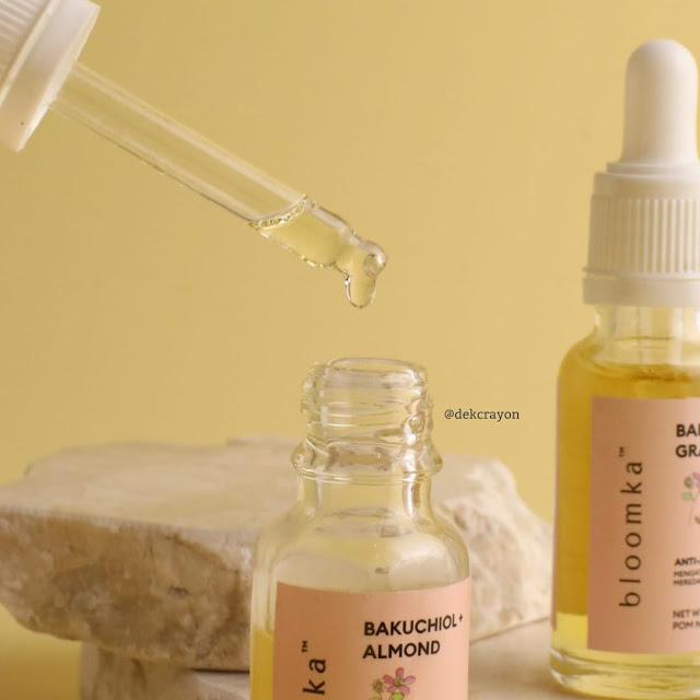 review bloomka bakuchiol almond anti aging face oil