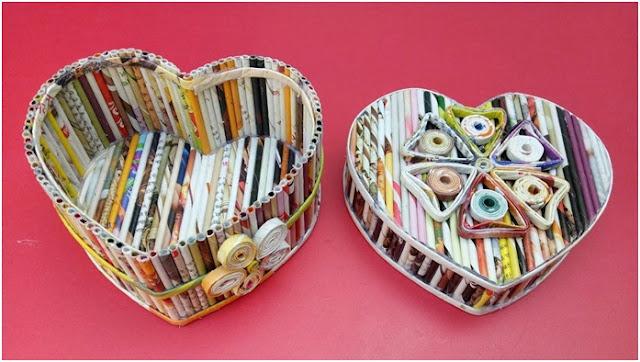 Dergi ve Gazetelerden Dekoratif Kutu Tasarımı