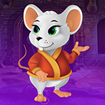 G4K Cheerful White Rat Escape