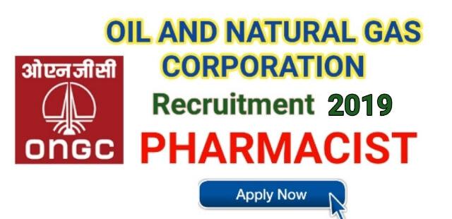 ONGC Tripura Recruitment 2019 | Apply Online Pharmacist 03 posts ongcindia