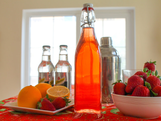 Food Lust People Love: This slightly sweet simple strawberry vodka is best served well chilled in shot glasses or as a cocktail ingredient. It makes a fabulous sparkling libation with Champagne or soda.