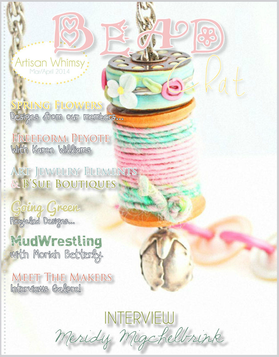 cover page of March/April 2014 issue of Artisan Whimsy emagazine