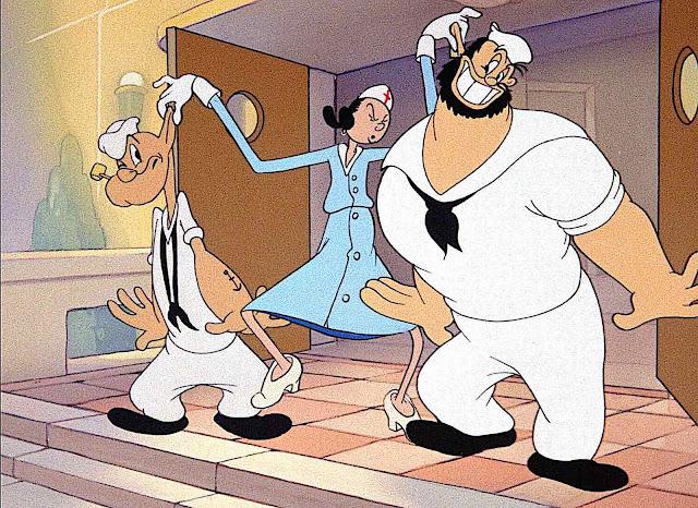 Popeye animated by the Fleischer studio