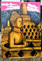 Lukisan Cat Minyak Budha