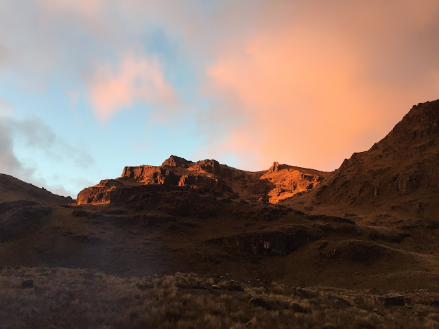 Sunset in the Cajas