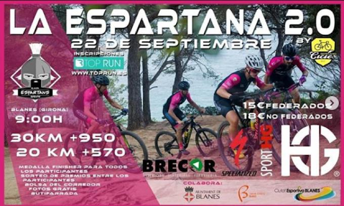 LA ESPARTANA 2.0 se disputará el 22 de septiembre de 2019