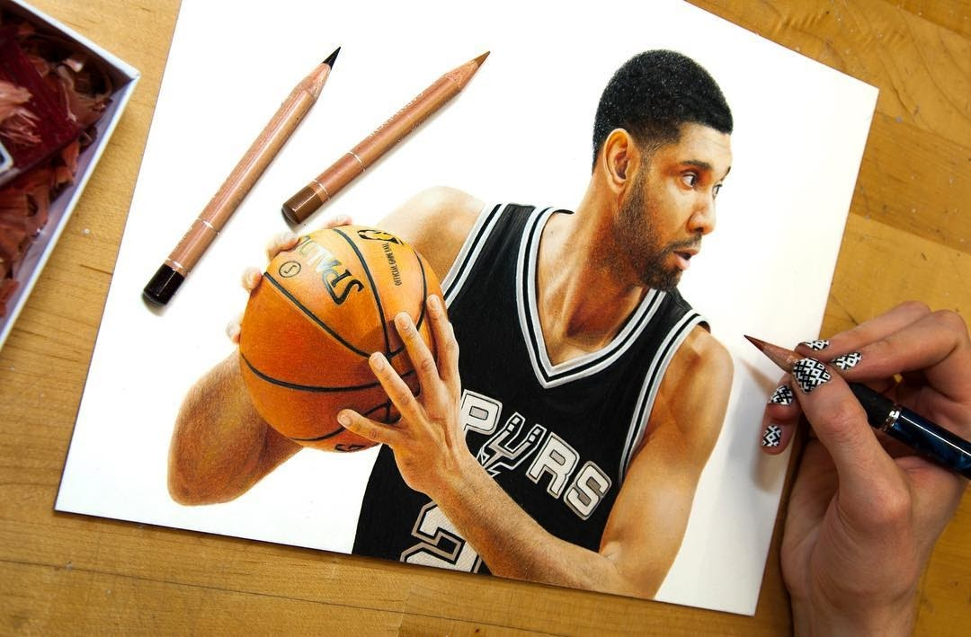11-Tim-Duncan-Heather-Rooney-Photorealistic-Colored-Pencil-Drawing-Portraits-www-designstack-co
