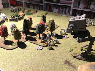 The AT-ST fires at the Rebels