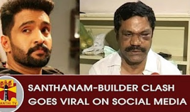 Santhanam – Builder Clash goes Viral on Social Media | Thanthi Tv