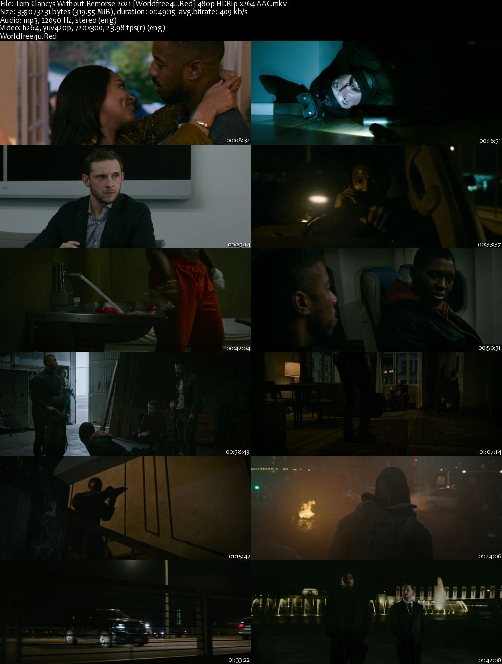 Without Remorse 2021 English HDRip 480p 300Mb