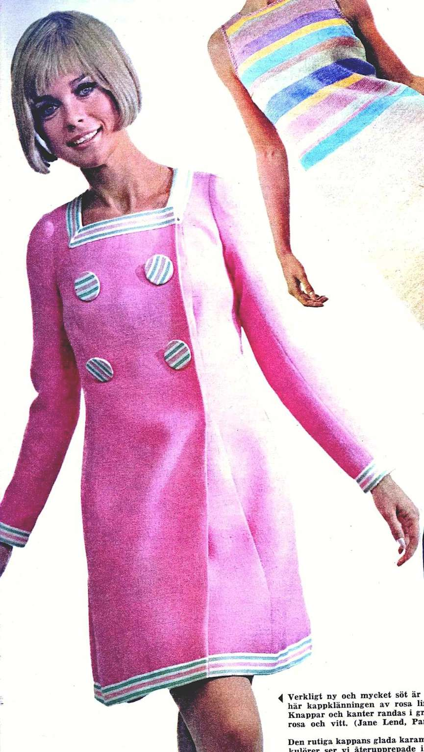 oversized buttons on men and women was 1960s mod style