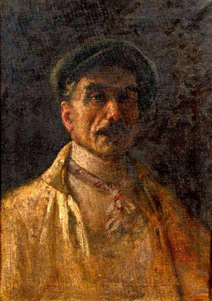 Angelo Bacchetta, Self Portrait, Portraits of Painters, Fine arts, Portraits of painters blog, Paintings of Angelo Bacchetta, Painter Angelo Bacchetta