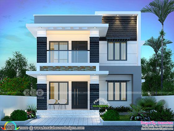 1610 sq. ft. modern home design
