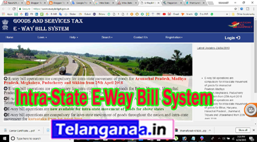 Intra-State E-Way Bill System in Gujarat Puducherry MP Sikkim Meghalaya AP Karnataka