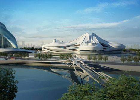Phối cảnh tổ hợp trung tâm Meixihu- Changsha