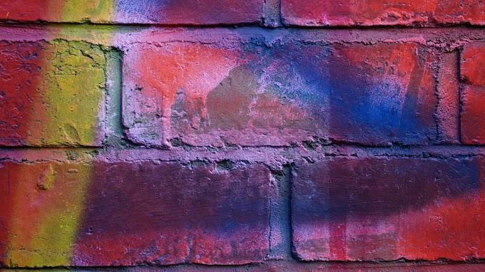 Parede de Tijolos, Multicolorida, Textura, Fotografia