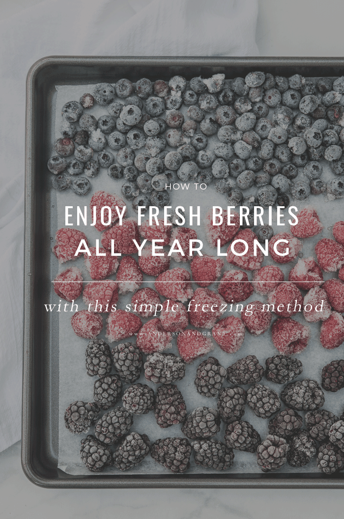 Simple freezing method for fresh berries