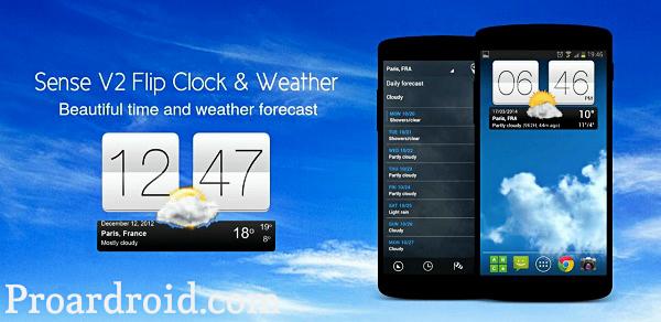 تطبيق Sense Flip Clock & Weather Pro v4.92.54 نسخة كاملة للأندرويد مجانا logo
