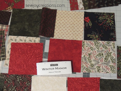 Winter Manor charm squares