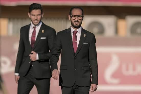 وليد سليمان وحمدى فتحى فى جلسة تصوير الأهلى لكأس العالم للأندية 2021