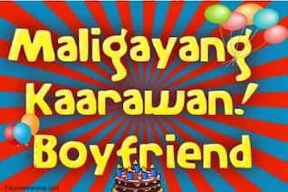 Maligayang Kaarawan Boyfriend
