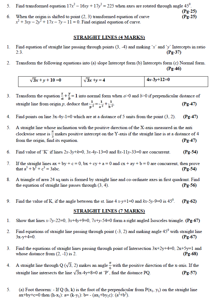 intermediate second year maths model papers