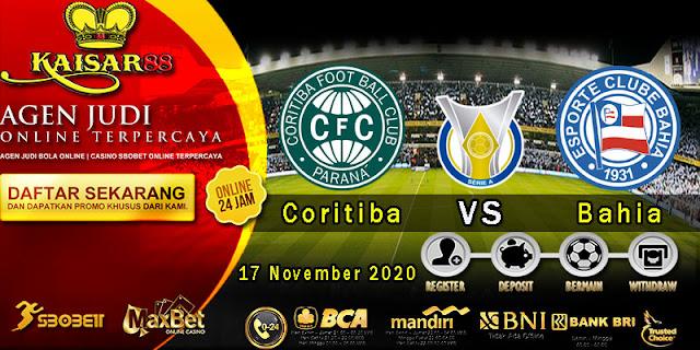 Prediksi Bola Terpercaya Liga Brazil Coritiba vs Bahia 17 November 2020
