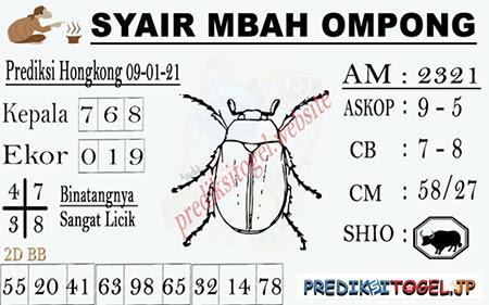 Syair Mbah Ompong HK Sabtu