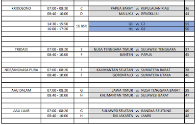 Jadwal Liga Pelajar Piala Menpora U-16 Seri Nasional