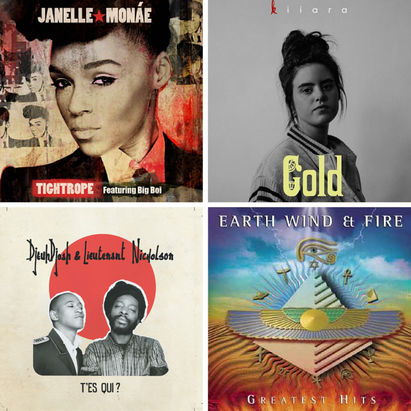 janelle monae, kiiara, earth wind and fire, djeuhdjoah