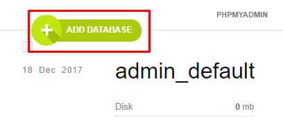 Add New Icon To Add Database