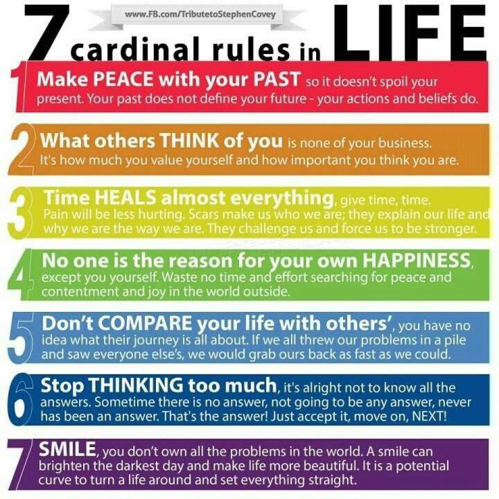 Inspirational Picture Quotes...: 7 Cardinal Rules Of Life