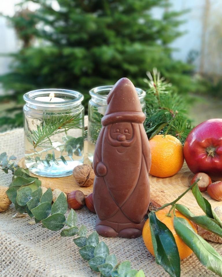 Welcher vegane Schoko Weihnachtsmann schmeckt am besten? Der große Test. | Alnatura Schoko Weihnachtsmann vegan | #milchfrei #laktosefrei #ohnemilch #zartbitter #edelbitter #dunkleschokolade #vegan #zuckerarm #fruktosearm | judetta.de
