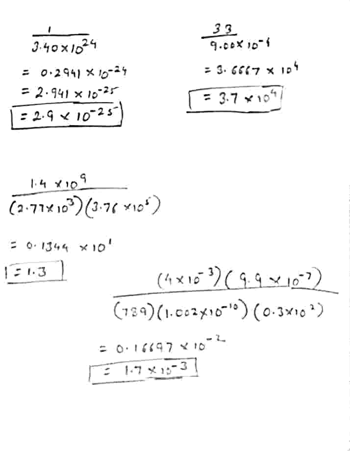 P. Perform each of the following calculations. Round off your answers to two digits