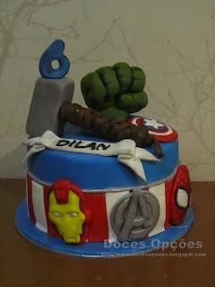 Bolo Super Heróis Marvel