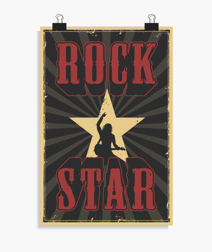 poster, posters, negro, rock, musica