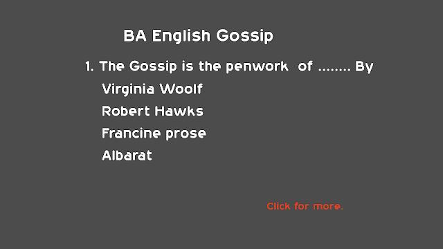 BA English  Gossip