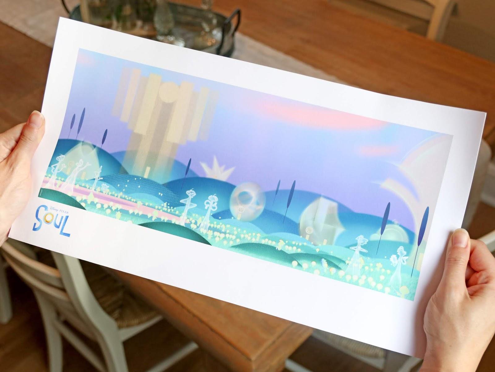 pixar soul d23 expo concept art lithograph