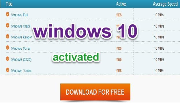 الحصول على اصدارات ويندوز 10 و تحميلها مفعلة