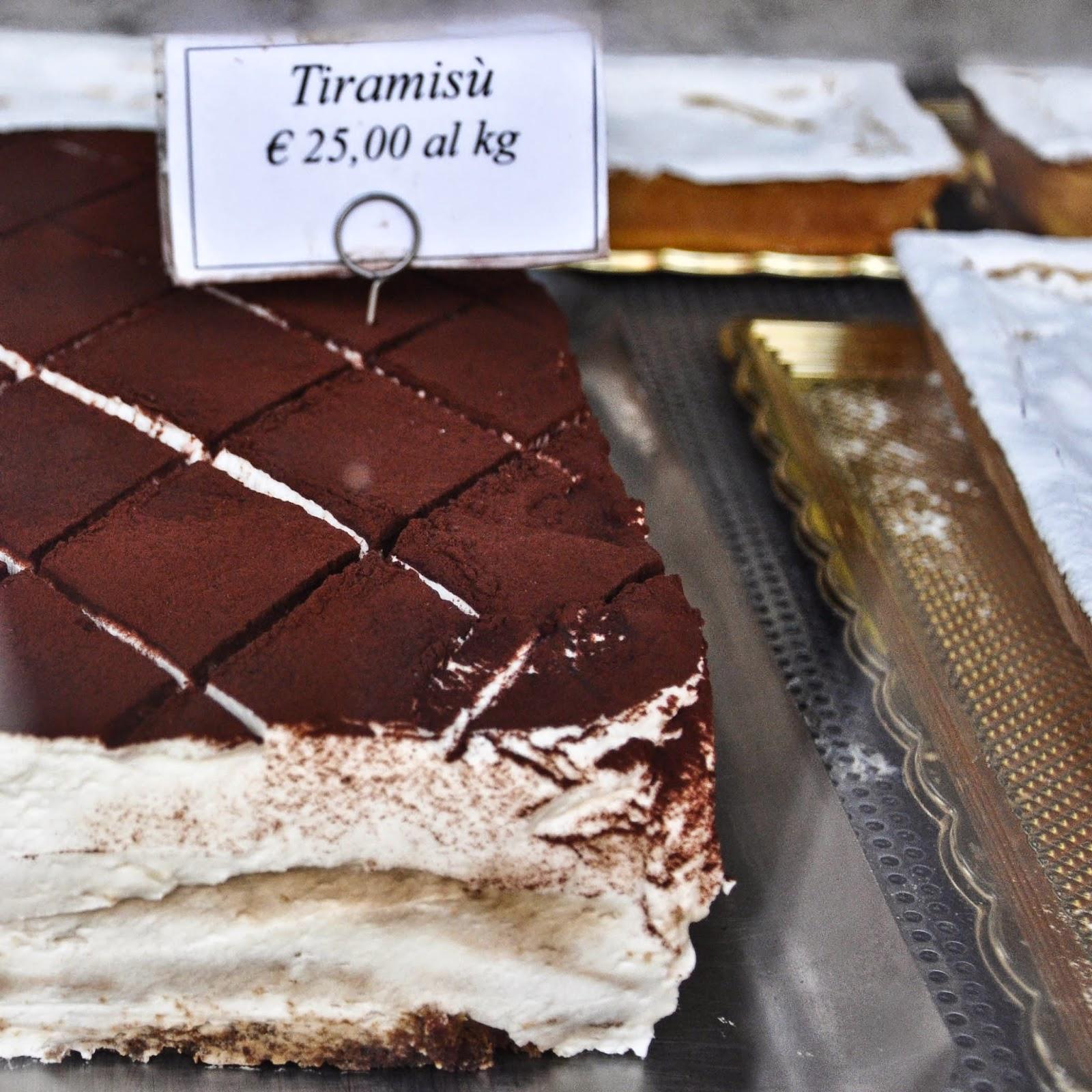 A slab of tiramisu, Venice