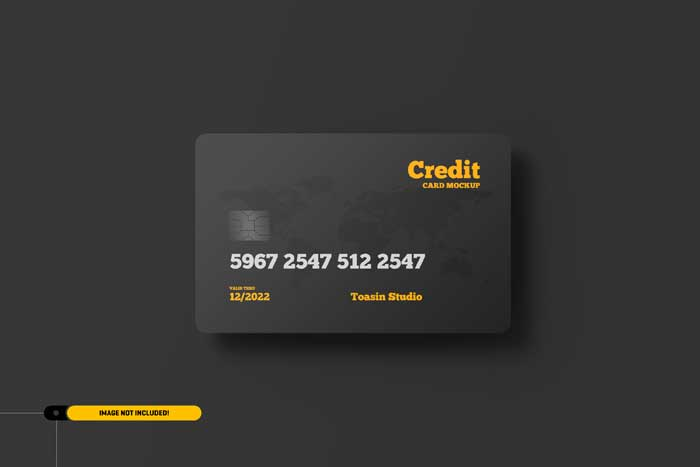 Credit Cards Gift Cards PSD Mockup
